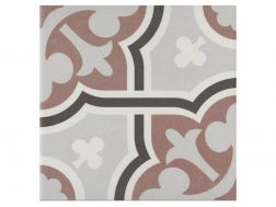 FLOW MARRON 20x20 - Floor tile with cement tiles, porcelain.