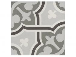 FLOW GRIS 20x20 - Floor tile with cement tiles, porcelain.