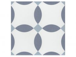 CHERE BLEU 20x20 - Floor tile with cement tiles, porcelain.