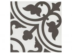 FLAVIE BLANC 20x20 - Floor tile with cement tiles, porcelain.