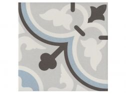 FLAVIE BLEU 20x20 - Floor tile with cement tiles, porcelain.