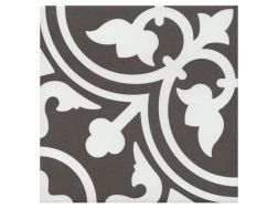 FLAVIE NOIR 20x20 - Floor tile with cement tiles, porcelain.