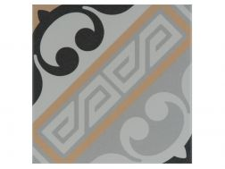 JULIETTE MARRON 20x20 - Floor tile with cement tiles, porcelain.
