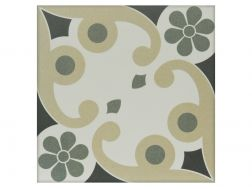 JENETTE 20x20 - Floor tile with cement tiles, porcelain.
