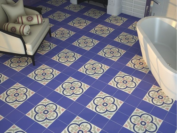 KALEIDOSCOPE TERRA 20x20 - Floor tile with cement tiles