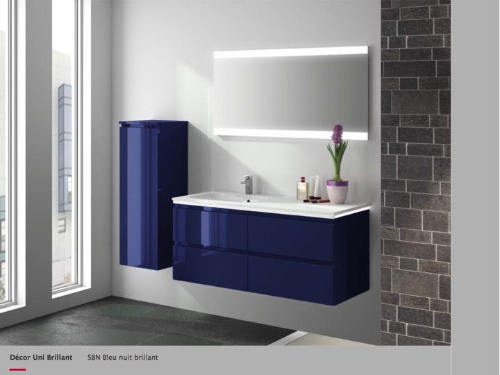 meuble salle de bain bleu nuit