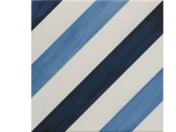 BLUE DIAGONALE 22,3X22,3 - Floor tile with cement tiles, porcelain.