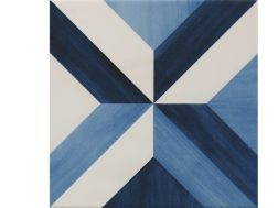 BLUE RHOMBUS 22,3X22,3 - Floor tile with cement tiles, porcelain.