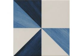 BLUE TRIANGLE 22,3X22,3 - Floor tile with cement tiles, porcelain.