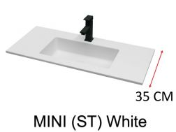 Very small bathroom washbasin, 70 x 35 cm - Atenea Mini 35