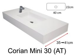 Very small bathroom washbasin, 50 x 30 cm - Bari Mini 30 (AT) Solid Surface