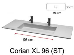 Large double sink faucet, 50 x 110 - HYDRA XL (ST) Solid Surface