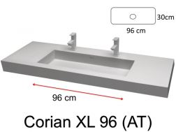 Large double sink faucet, 50 x 110 - BARI XL (ST) Solid Surface