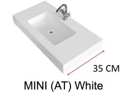 Very small bathroom washbasin, 70 x 35 cm - Atenea Mni 35Mini