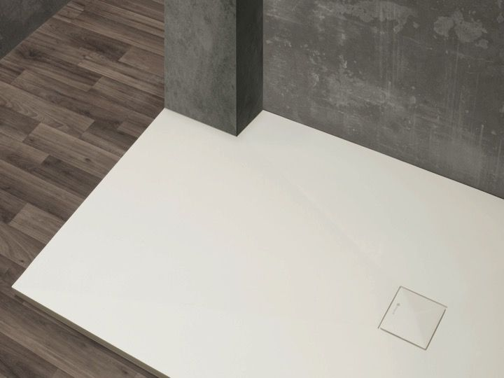 Shower tray type Corian, in mineral resin Solid Surface - DILOS