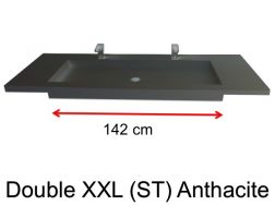 Very large basin, custom, 50 x 150 cm- Double XXL (ST) anthracite
