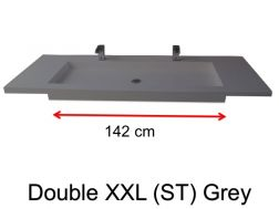 Very large basin, custom, 50 x 150 cm- Double XXL (ST) grey