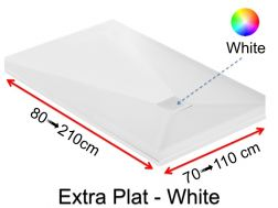 Extra flat shower tray 70_80_ 90_100 x 130 cm, EXTRA PLAT white