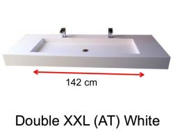 Very large basin, custom, 50 x 160 cm- Double XXL (AT) white