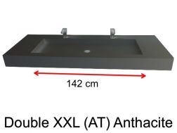 Very large basin, custom, 50 x 190 cm- Double XXL (AT) Anthracite