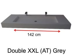 Very large basin, custom, 50 x 190 cm- Double XXL (AT) grey