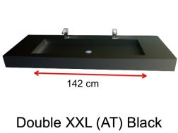 Very large basin, custom, 50 x 190 cm- Double XXL (AT) black