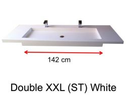 Very large basin, custom, 50 x 190 cm- Double XXL (ST) white