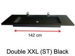 Very large basin, custom, 50 x 190 cm- Double XXL (ST) black