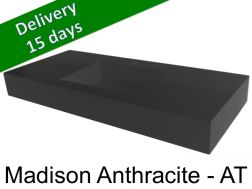 Washbasin top with integrated washbasin, width 50 x 160 cm - Madison Anthracite AT