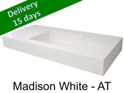 Washbasin top with integrated washbasin, width 50 x 160 cm - Madison white AT