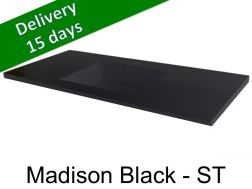 Washbasin top with integrated washbasin, width 50 x 170 cm - Madison black st