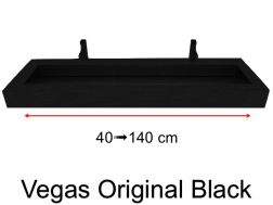 Custom Natural Stone Gutter Sink, 45 x 70 - Vegas Original black