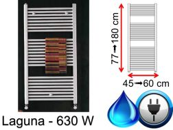 Towel dryer 630  Watt, mixed, small and large dissension - Laguna SCIROCCO