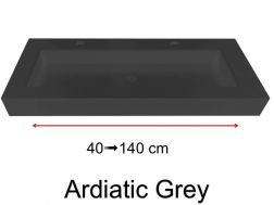 Stone washbasin plan, with built-in washbasin, 45 x 140, custom-made - Adriactic grey