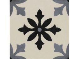 Pictural 1 Blanco -  22x22 - Floor tile with cement tiles, porcelain.