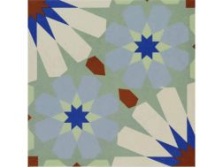 Pictural 9 -  22x22 - Floor tile with cement tiles, porcelain.