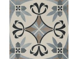Pictural 12 -  22x22 - Floor tile with cement tiles, porcelain.