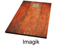 Shower tray 110 cm, decorated with a personalized image - imagik