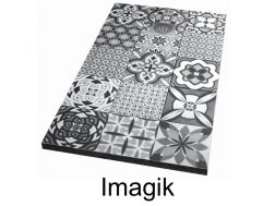 Shower tray 120 cm, decorated with a personalized image - imagik