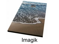 Shower tray 130 cm, decorated with a personalized image - imagik