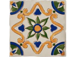 DEC VALENCIANO ANTIC HUESO 13 x 13 - Kitchen wall tiles, faience with irregular edges.