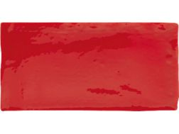 ANTIC ROJO 7,5 x 15 - Kitchen wall tile, faience with irregular edges.