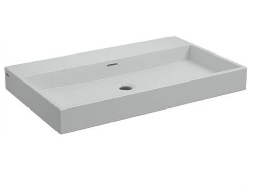 Washbasin, 70 x 42 cm, white mineral marble - CLOU WASHME