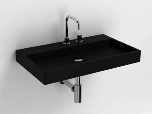 Washbasin, 70 x 42 cm, matte anthracite ceramic - CLOU WASHME