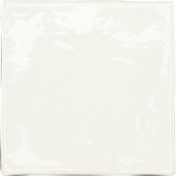 MANISES BLANCO Brillo 13X13 cm, wall, tiled tiled jagged edges