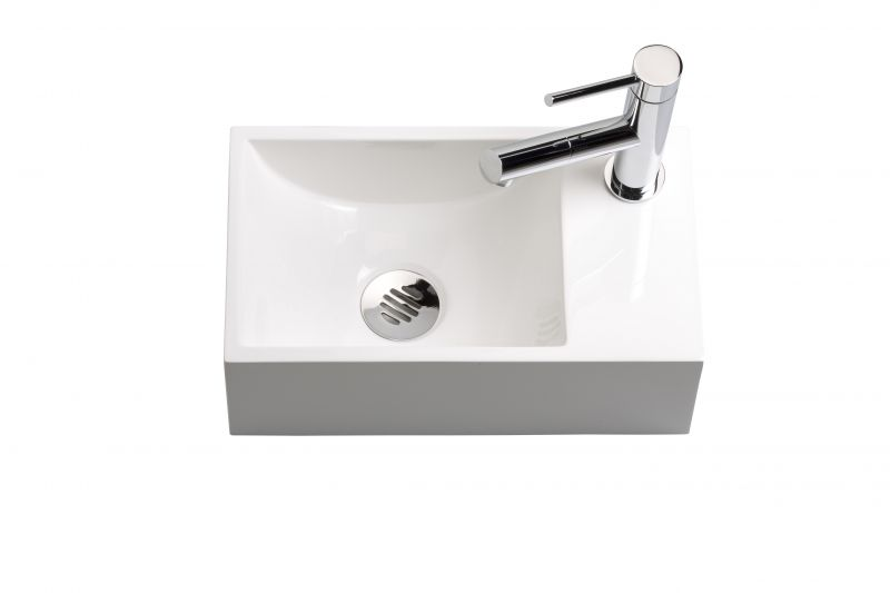 Washbasin Wc Resin Depth 20 Cm Fitting Right Recto 35 Benesan