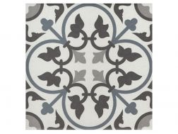 ADELE BLEU 20x20 - Floor tile with cement tiles, porcelain.