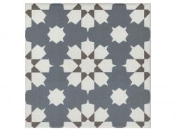 BENOIT BLEU 20x20 - Floor tile with cement tiles, porcelain.