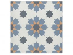BENOIT JAUNE 20x20 - Floor tile with cement tiles, porcelain.