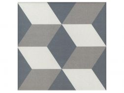 GUSTAVE 20x20 - Floor tile with cement tiles, porcelain.